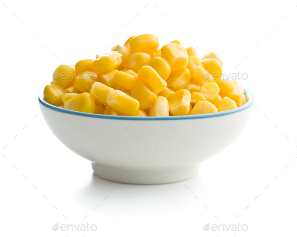 Corn seeds in bowl . - Stock Photo - Images