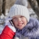 Happy Little Girl Talking on Phone in Winter - VideoHive Item for Sale