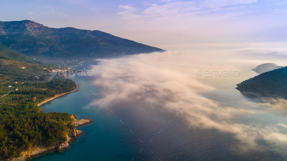 Kinira island at the island of Thassos Greece - Stock Photo - Images