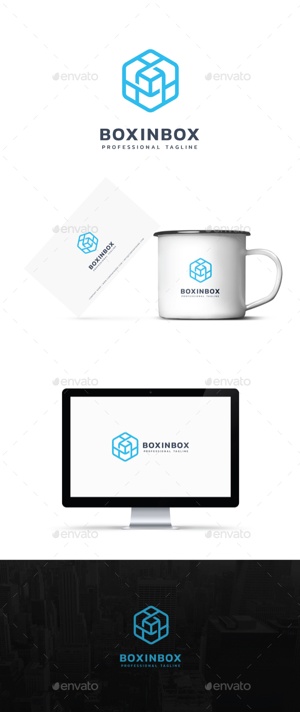 Box In Box Logo - Abstract Logo Templates