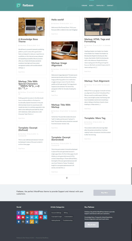 Flatbase - A responsive Knowledge Base/Wiki Theme by