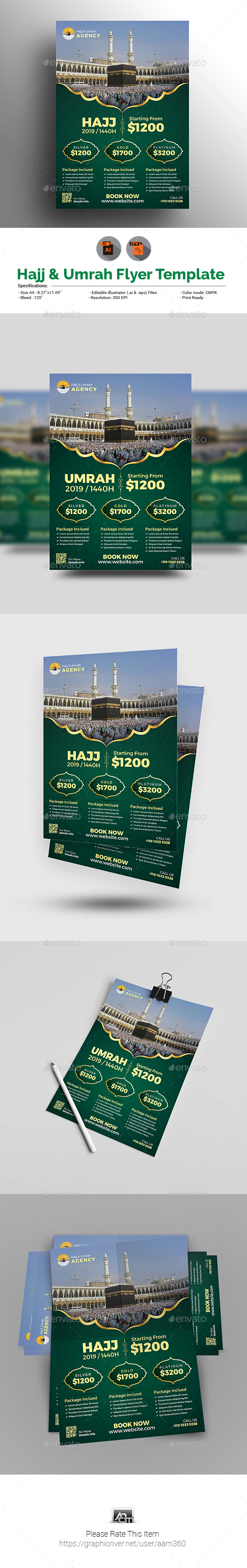 Hajj Flyer Template - Commerce Flyers