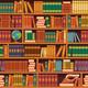 Seamless Bookshelf Pattern