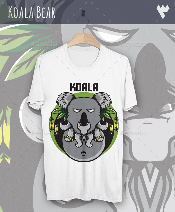 Tribal Chief Koala Bear - T-Shirt Design