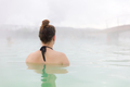 Woman Relaxing In Blue Lagoon At Iceland - PhotoDune Item for Sale