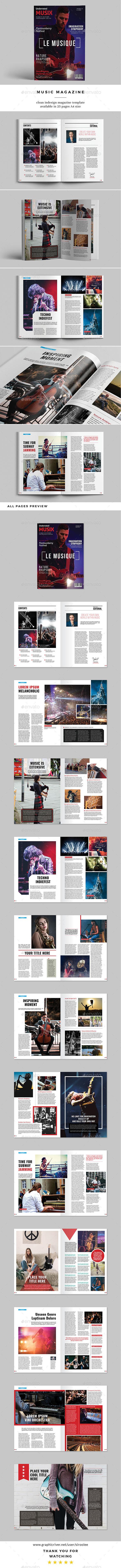 Music Magazine - Magazines Print Templates