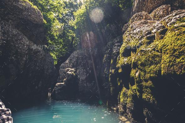 Martvili canyon in Georgia. Nature landscape - Stock Photo - Images