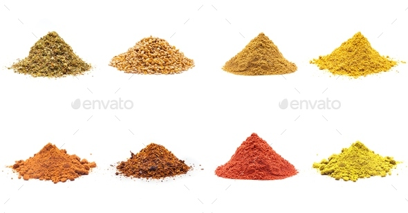 Colorful spices variety collection - Stock Photo - Images