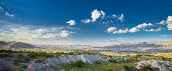 Beautiful landscape in Cappadocia - Stock Photo - Images