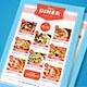 Retro Diner Menu - GraphicRiver Item for Sale