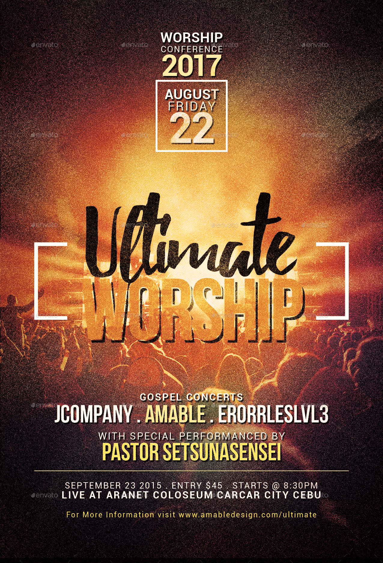 3 in 1 Worship Church Flyer/Poster Bundle