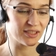Businesswoman Working in a Call Center. Customer Service Proffessional Talking on Headset - VideoHive Item for Sale