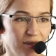 Businesswoman Talking on a Headset in an Office Customer Service Proffessional - VideoHive Item for Sale