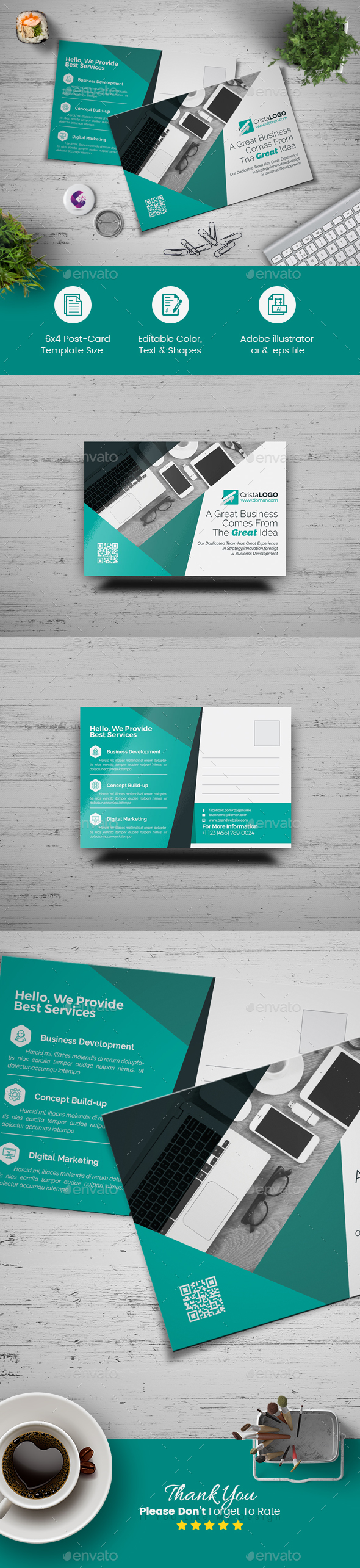 Postcard Template - Corporate Brochures
