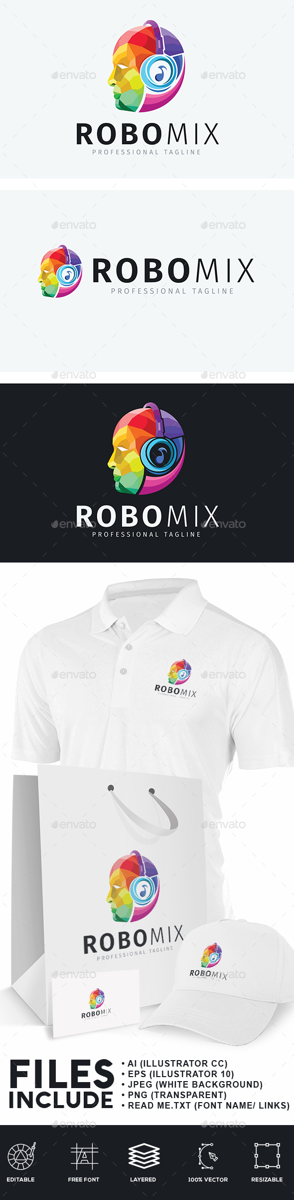 Audio Robot Logo - Humans Logo Templates