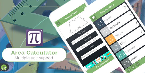 Area Calculator for Android - Full Application with PSD - CodeCanyon Item for Sale