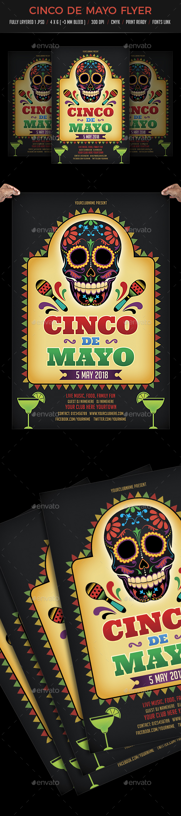Cinco De Mayo Flyer Template - Events Flyers