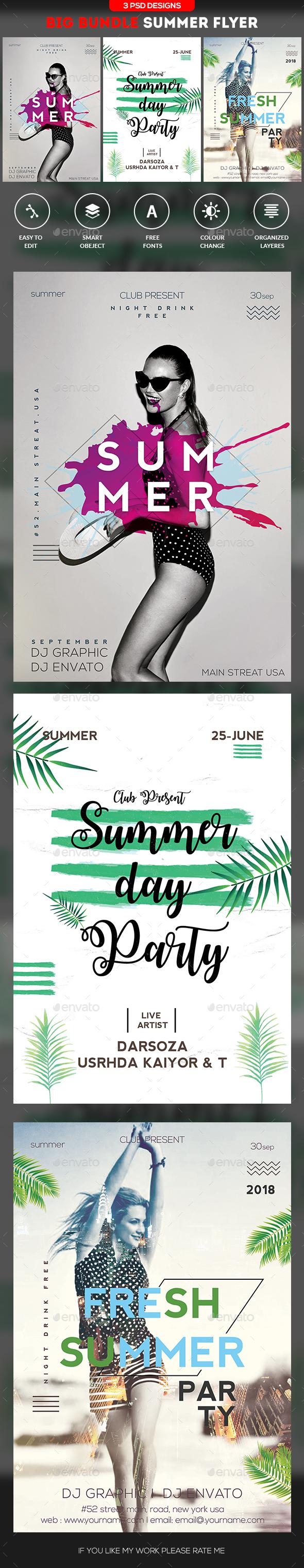 Summer Bundle - Events Flyers