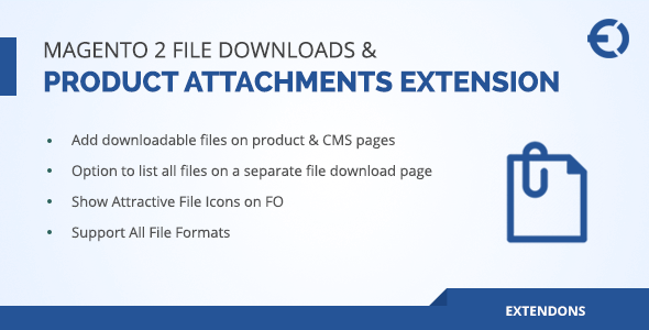 Magento 2 Product Attachments Extension, File Upload / Download - CodeCanyon Item for Sale