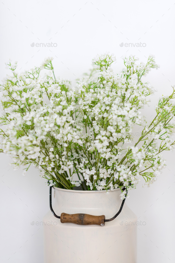 White flowers background - Stock Photo - Images