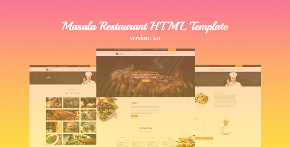 Masala Restaurant HTML Template - Food Retail