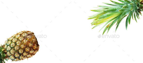 Fresh pineapple on white background - Stock Photo - Images