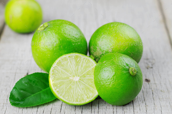 lime cut on floor - Stock Photo - Images