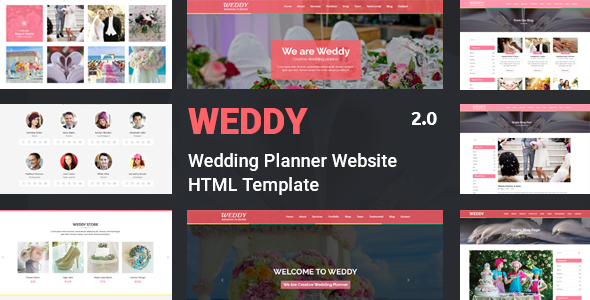 Weddy - Wedding Planner Website Template