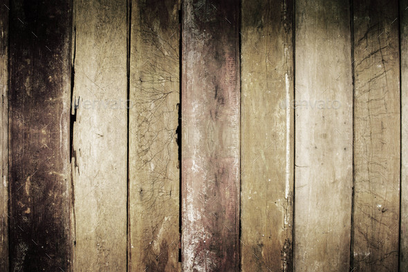 Old wooden of background - Stock Photo - Images