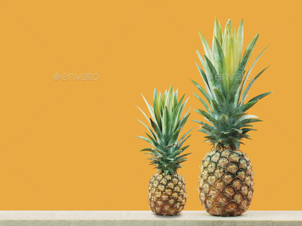 Pineapple of fresh on wood - Stock Photo - Images