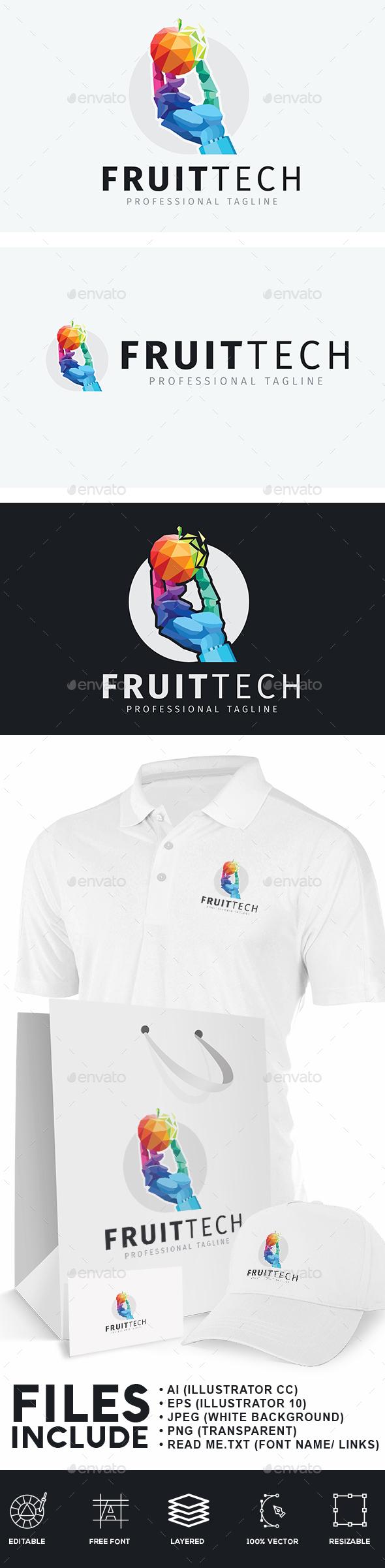 Fruits Technology Logo - Humans Logo Templates