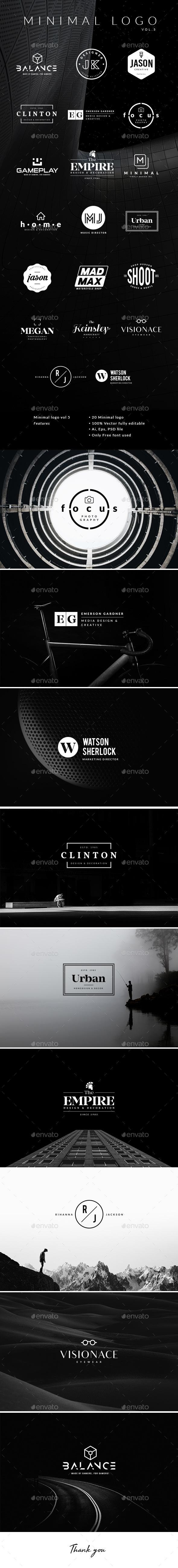 Minimal Logo Vol.5 - Badges & Stickers Web Elements