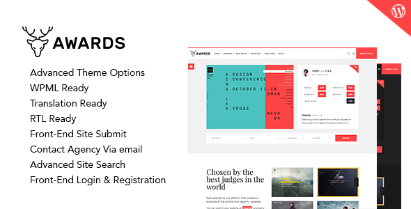 Awards - CSS Gallery Nominees Website Showcase Responsive WordPress Theme - Directory & Listings Corporate