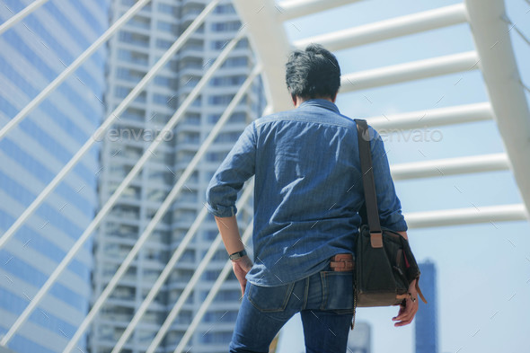 Young man in the city - Stock Photo - Images