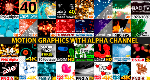 Motion graphics with Alpha channel