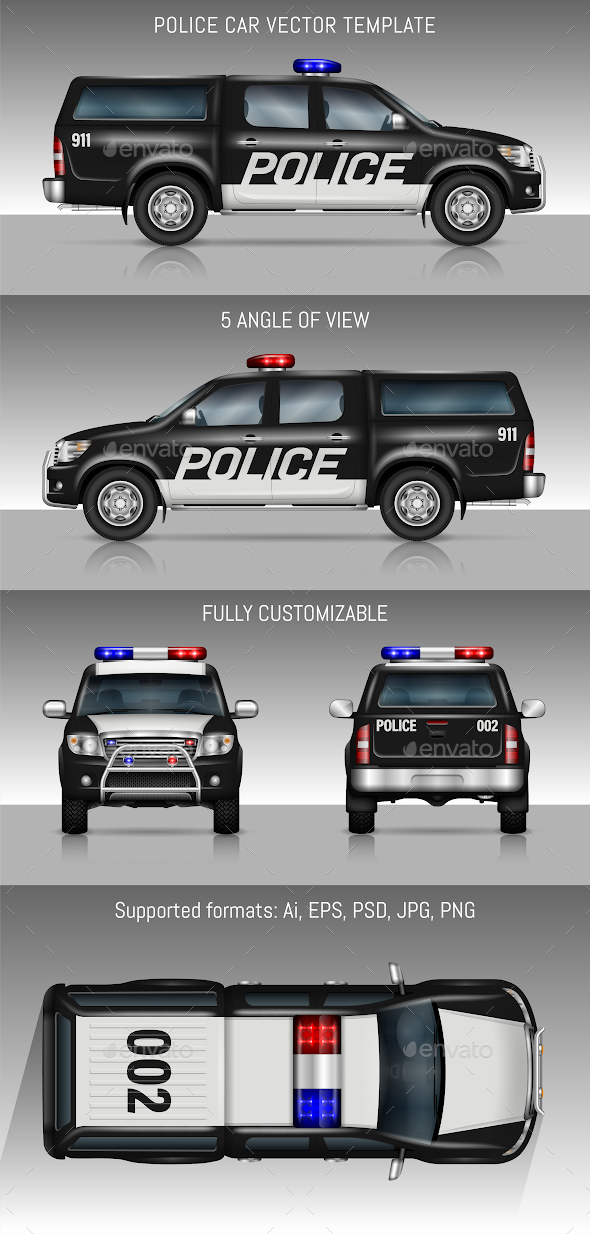 police car by yurischmidt graphicriver