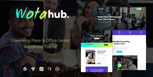 Image of WotaHub | Coworking Space WordPress Theme