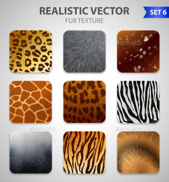 Wild Animals Fur Texture Set - Animals Characters
