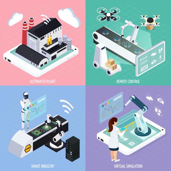 Smart Industry Design Concept - Industries Business