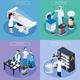 Isometric Cryogenetics Design Concept