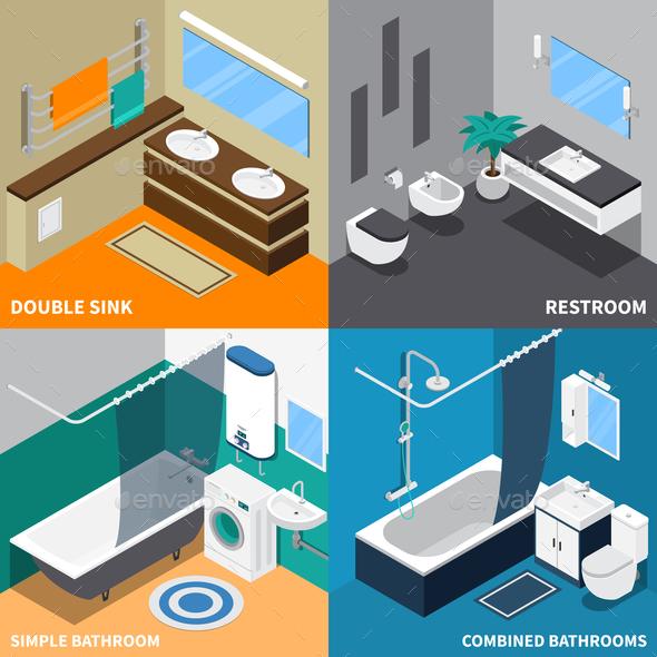 Sanitary Engineering Isometric Design Concept - Miscellaneous Vectors