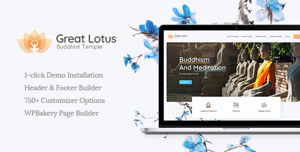 Image of Great Lotus | Buddhist Temple WordPress Theme