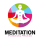 Meditation Human Body Logo - GraphicRiver Item for Sale