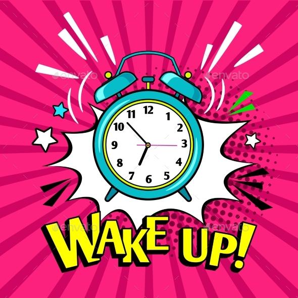 Wake Up Alarm Clock - Miscellaneous Vectors