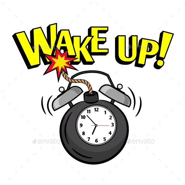 Wakeup Bomb Clock - Miscellaneous Vectors
