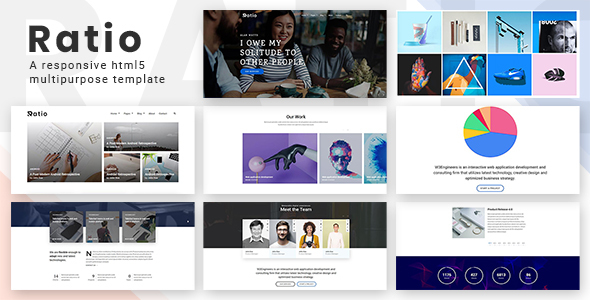Image of RATIO – A Responsive Multipurpose HTML5 Template