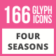 166 Four Seasons Glyph Icons