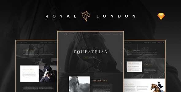Royal London Equestrian - Horse Riding School - Sketch Templates