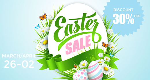 Easter Sale 2018 | Up to 30% OFF on Hi-Quality Magento Themes