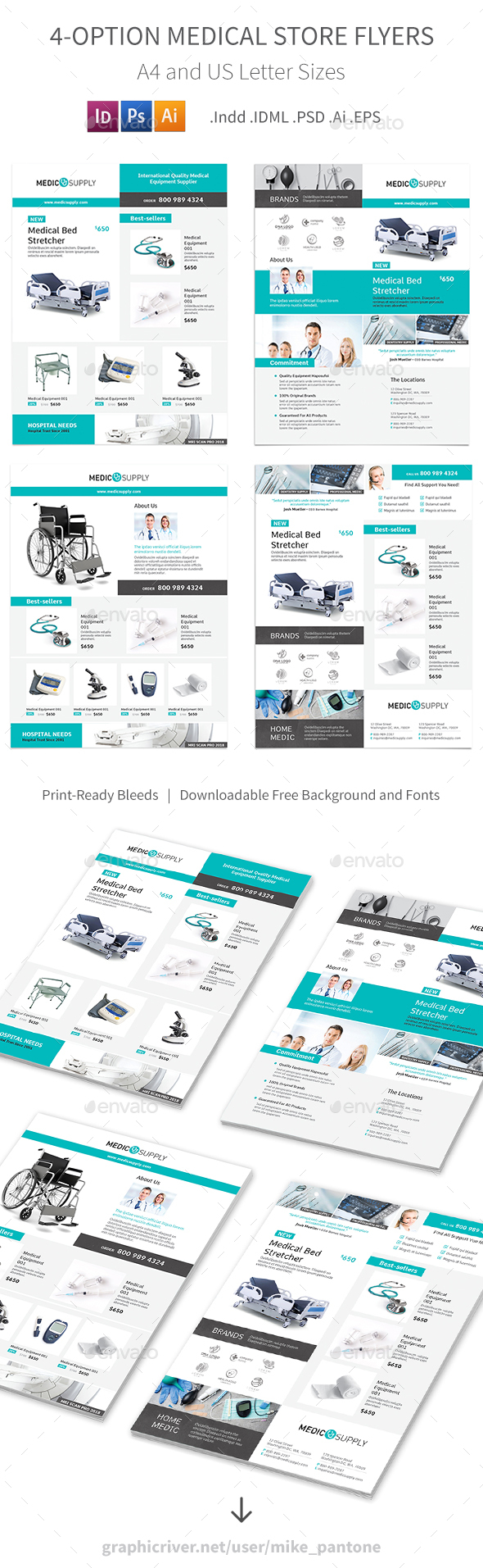 Medical Store Flyers – 4 Options - Commerce Flyers